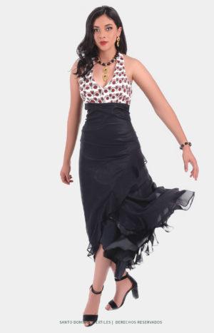 Vestido bordado Tlahuitoltepec