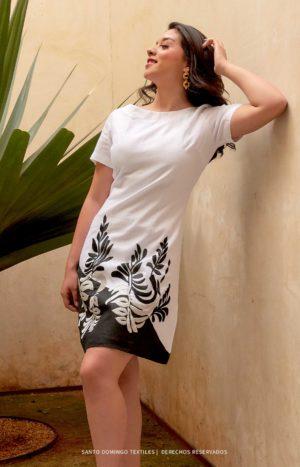 Vestido negro-blanco